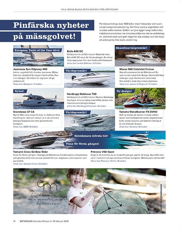 Portfolio Annonsbilaga - Båtmässan - nyheter
