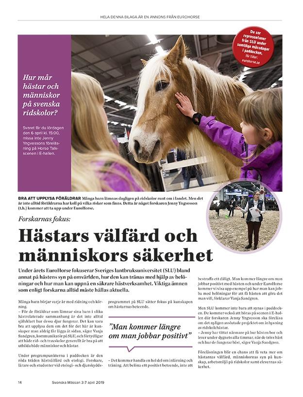 Annonsbilaga - Eurohorse - Hästas välfärd
