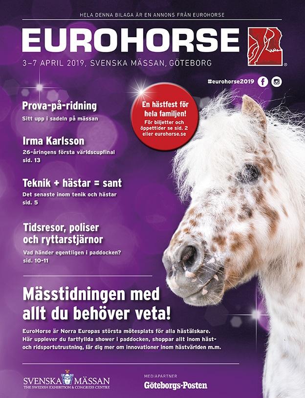 Portfolio Annonsbilaga i GP - Eurohorse - mässtidning