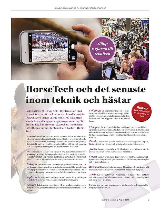 Annonsbilaga - Eurohorse - Teknik och hästar