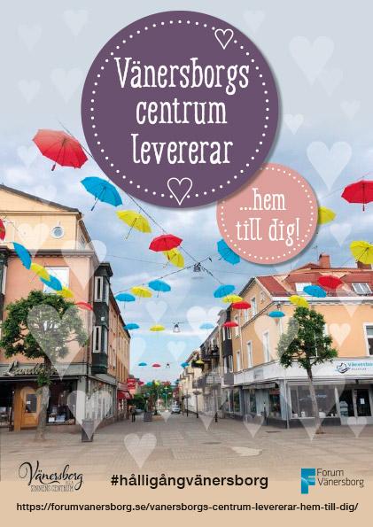 Portfolio Flyer för Vänersborgs Centrum